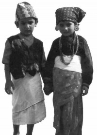 Nepali kids in national dress