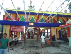 bhagwati temple decorated for Dashain, Photo by: Anisha Bhattarai