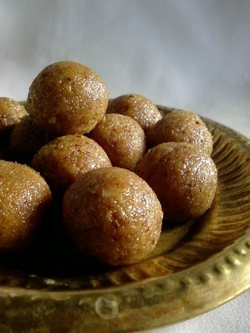 coconut fenugreek laddu