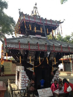 The temple of Taal Barahi that is situated on the small island in Phewa Taal.