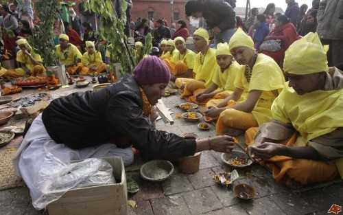 Upanayana, a religious Hindu ritual